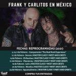 Comunicado Nuevas Fechas Frank y Carlitos en México