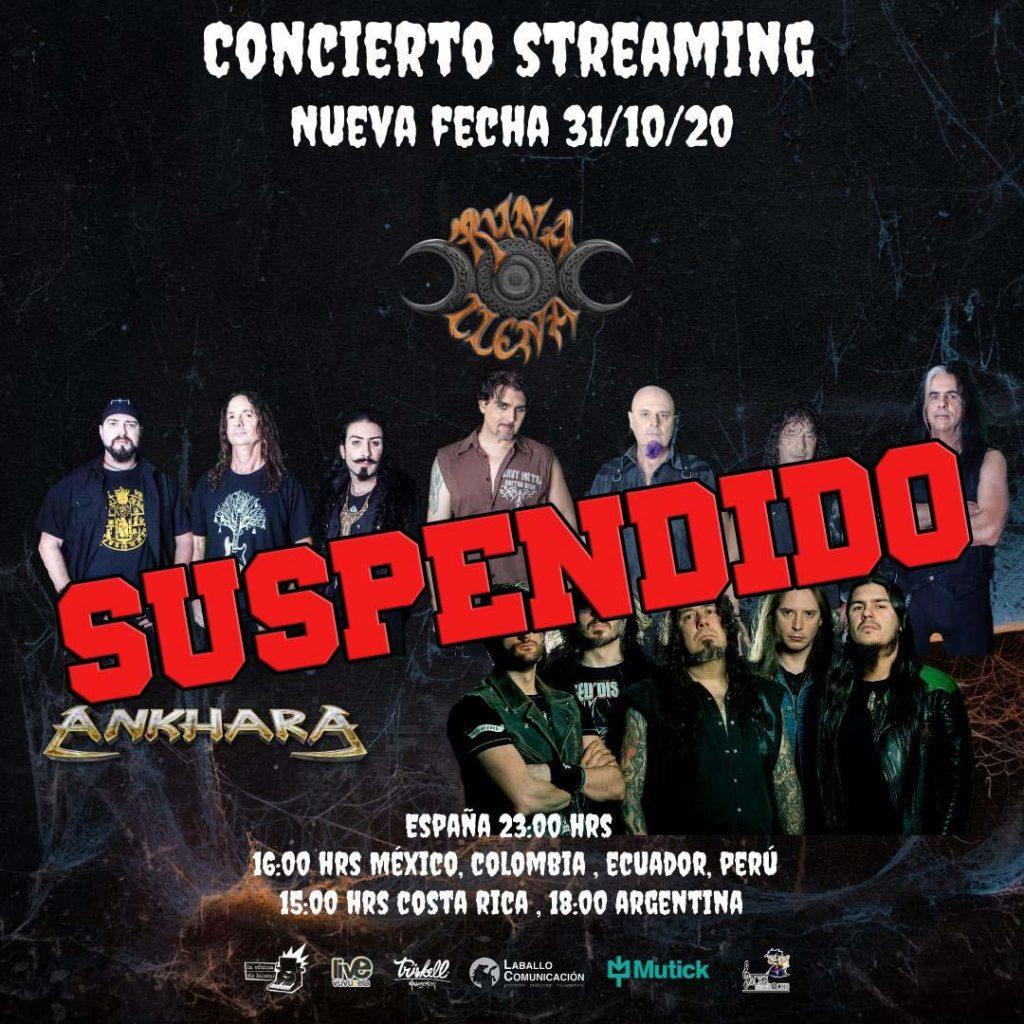 Suspendido Concierto StreamingOct 2020 por situacion COVID 19