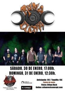Próximos conciertos de Runa Llena en la Sala Urban Rock Concept de Vitoria (CAMBIO DE HORARIOS)